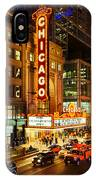 Chicago Theater At Night IPhone Case