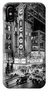 Chicago Theater In Black And White IPhone Case