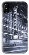Chicago Theater Marquee B And W IPhone Case