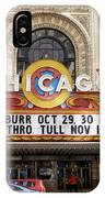 Chicago Theater Marquee Jethro Tull Signage IPhone Case