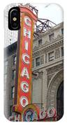Chicago Theater Sign IPhone Case