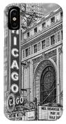 Chicago Theatre Bw IPhone Case