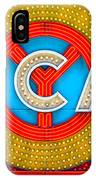 Chicago Theatre Sign V3crop Details Dsc2176 IPhone Case