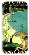 Chicago, Vacation City, Areal View On The Beach IPhone Case