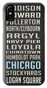 Chicago Vintage Subway Signs IPhone Case