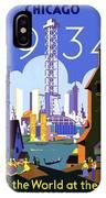 Chicago, World Fair, Vintage Travel Poster IPhone Case