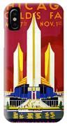 Chicago, World's Fair, Vintage Travel Poster IPhone Case