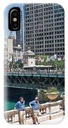 Chicago's Dusable Bridge On N. Michigan Avenue IPhone Case