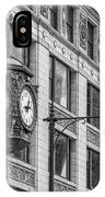 Chicago's Father Time Clock Bw IPhone Case
