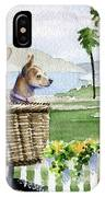 Chihuahuas In A Bike Basket IPhone Case