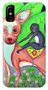 Chihuahuaw/monkie IPhone Case