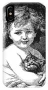 Child & Pet, 19th Century IPhone Case