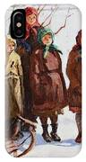 Children With A Sled Nikolai Petrovich Bogdanov-belsky IPhone Case