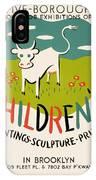 Children's Paintings-sculpture-prints IPhone Case