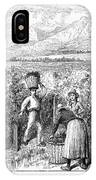 Chile: Wine Harvest, 1889 IPhone Case