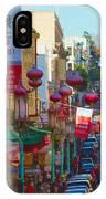 Chinatown Street Scene IPhone Case