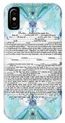 Chinease Ketubah- Reformed And Interfaithversion IPhone Case