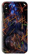Asian Fir Needles On Ancient Round IPhone Case