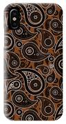 Chocolate Brown Paisley Design IPhone Case