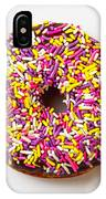 Cholocate Donut With Sprinkles IPhone Case by Garry Gay
