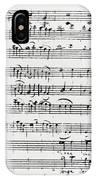 Chorus Of Shepherds, Handwritten Score Of The Opera Ascanio In Alba IPhone Case
