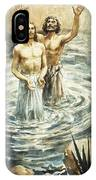 Christ Being Baptised IPhone Case
