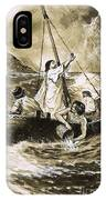 Christ Calming The Storm IPhone Case