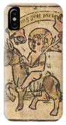 Christ Child On Donkey IPhone Case