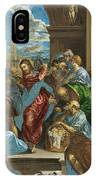 Christ Cleansing The Temple IPhone Case