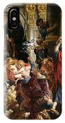 Christ Driving The Merchants From The Temple IPhone Case