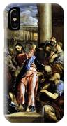 Christ Driving The Traders From The Temple 1576 IPhone Case