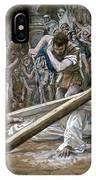 Christ Falls Beneath The Cross IPhone Case