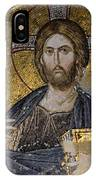 Christ Holds Bible In Mosaic At Chora Church Istanbul Turkey IPhone Case