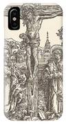 Christ On The Cross Between The Virgin And Saint John IPhone Case