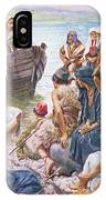 Christ Preaching From The Boat IPhone Case