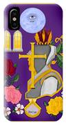 Christian Knights Of The Cross And Rose IPhone Case