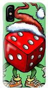 Christmas Casino Party IPhone Case