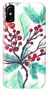 Christmas Holly IPhone Case