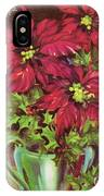 Christmas Illustration 1392 - Vintage Christmas Cards - Christmas Flowers IPhone Case
