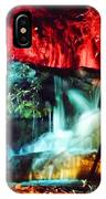 Christmas Lights At The Waterfall IPhone Case