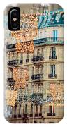 Christmas Lights Paris At Twilight IPhone Case