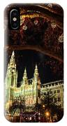 Christmas Market At The Vienna City Hall IPhone Case