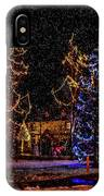 Christmas Snow Storm In Big Bear IPhone Case