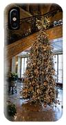 Christmas Tree And Staircase Marble House Newport Rhode Island IPhone Case