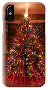 Christmas Tree Light Spikes Colorful Abstract IPhone Case