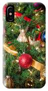Christmas Tree With Angel 4 IPhone Case