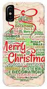 Christmas Words Ornament IPhone Case