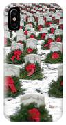 Christmas Wreaths Adorn Headstones IPhone Case