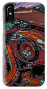Chrome Leather And Power 1481 H_2 IPhone Case