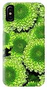 Chrysanthemum Green Button Pompon Kermit IPhone Case